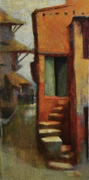 front steps oil 12 x 24