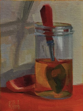 honey jar 3 oil, 8 x 6 cradled wooden box