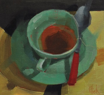 patt's cup 3 oil, 8 x 8  sold