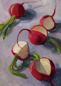 "radishes for e oil, 6x8"" sold"